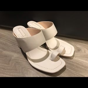 Topshop white heel leather sandal